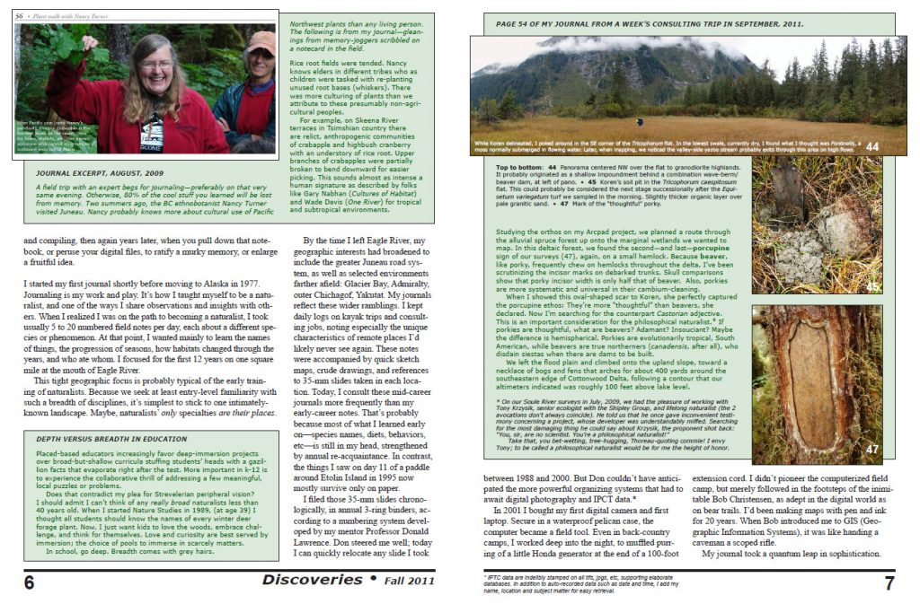 2011 fall newsletter  Recording nature: field journaling as